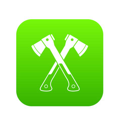 crossed axes icon digital green vector image