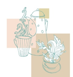 cup of aromatic tea vector image