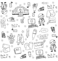 Cute hand draw school doodles vector