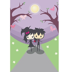 Cute Happy Couple They are not alone from now on vector