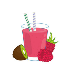 Delicious and sweet smoothie vector