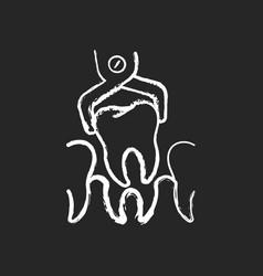 Dental surgery chalk white icon on black vector