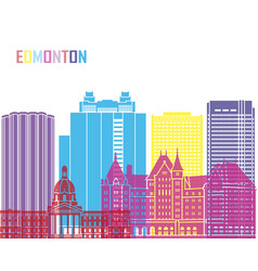 edmonton v2 skyline pop vector image