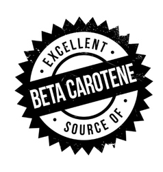 Excellent source of beta carotene stamp vector image