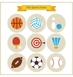 Flat Sport and Recreation Icons Set vector image