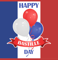 happy bastille day july 14 viva france s vector image