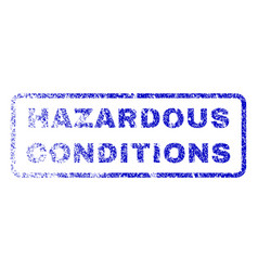 Hazardous conditions rubber stamp vector