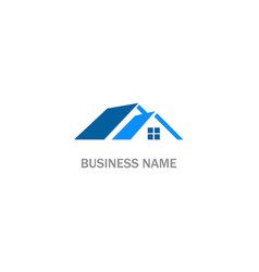 home rorealty business company logo vector image