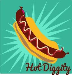 Hot Diggity vector