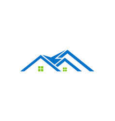House roof construction logo vector