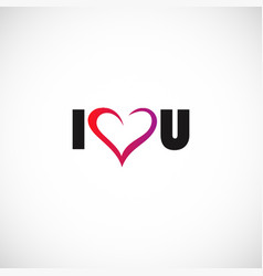 i love you logo vector image