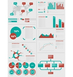 INFOGRAPHIC DEMOGRAPHICS 5 RED vector image