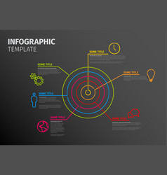 Infographic template with circle target vector