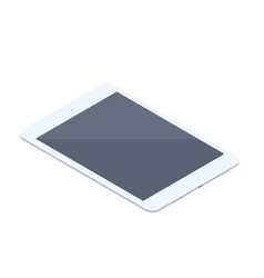 isometric white tablet isolated vector image