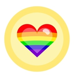 LGBT flag colors heart vector