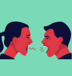 Man and woman yell at each other vector