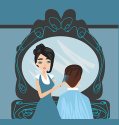man in a beauty salon vector image