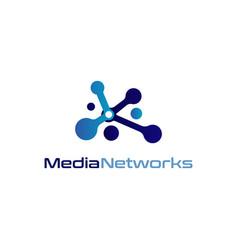 media networks logo design symbol vector image