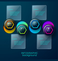 nautic circles business background vector image