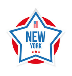 New york usa flag stripes and star vector