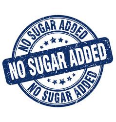 No sugar added blue grunge stamp vector