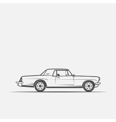 old American car in vintage style vector image