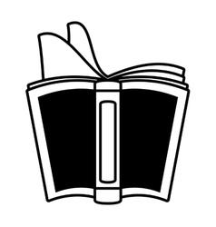 Open book school utensil outline vector