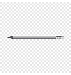 pencil with eraser mockup realistic style vector image