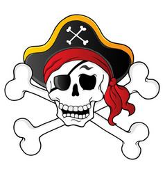 Pirate skull theme 1 vector