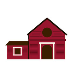 ranch house icon image vector image