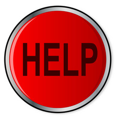 Red help button vector