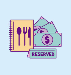 Restaurant reserved food vector