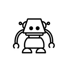 robot smart technology character artificial vector image