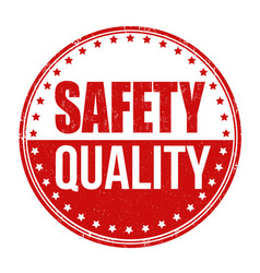 Safety quality grunge rubber stamp vector