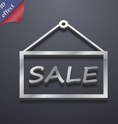 Sale tag icon symbol 3d style trendy modern design vector