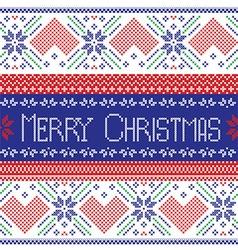 Scandinavian Merry Christmas seamless pattern vector image