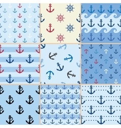 sea anchor pattern vector image