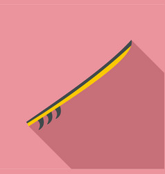 side view yellow surfboard icon flat style vector image