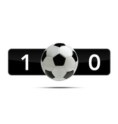 soccer or football 3d ball with score vector image