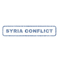 syria conflict textile stamp vector image