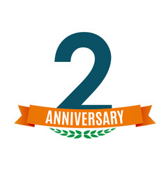 Template 2 years anniversary background with vector