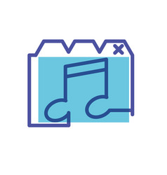 Template web page with note music vector