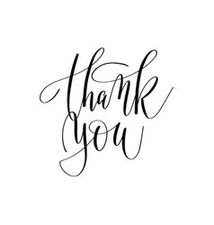 Thank you hand lettering inscription positive vector