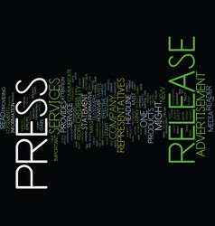 the magnificent power of the press release text vector image