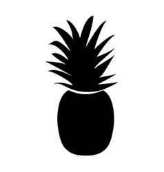 the pineapple black color icon vector image