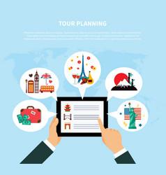 Tour planning design concept vector