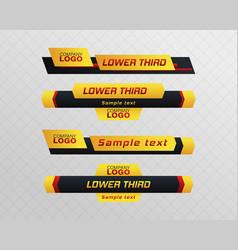 Tv news bar vector