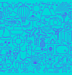 vacation line seamless pattern vector image