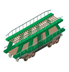 Wagon car icon isometric 3d style vector