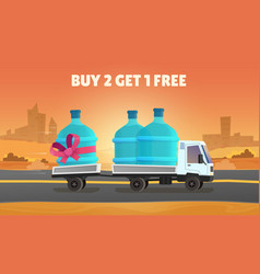 Water delivery discount vector